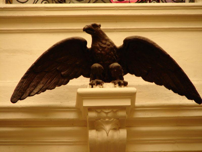 Maltese falcon statue